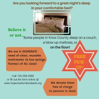HopeNow Furniture Bank needs your help!