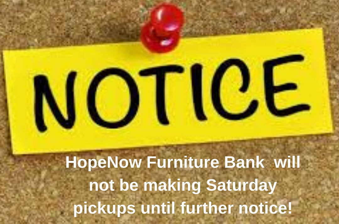 No Saturday pickup